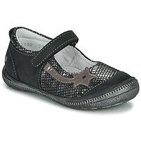 Cipők Lány Balerina cipők  GBB NYOKO Fekete  / Ezüst