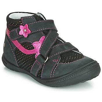 Cipők Lány Csizmák GBB NINA Fekete  / Rózsaszín