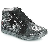 Cipők Lány Magas szárú edzőcipők GBB LETO Fekete  / Ezüst