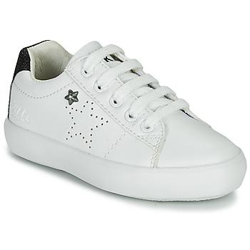 Cipők Lány Rövid szárú edzőcipők Ikks MOLLY Fehér / Fekete