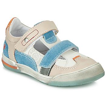Cipők Fiú Rövid szárú edzőcipők GBB PRINCE Fehér / Bézs / Kék