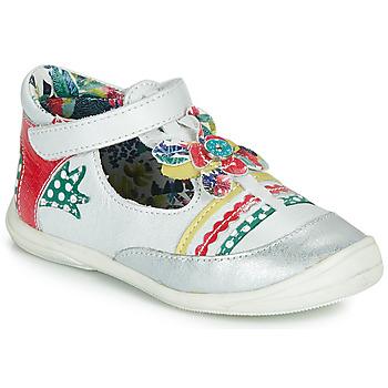 Cipők Lány Balerina cipők / babák Catimini PANTHERE Fehér / Sokszínű