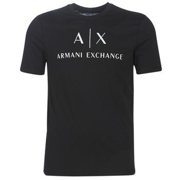 Ruhák Férfi Rövid ujjú pólók Armani Exchange 8NZTCJ-Z8H4Z-1200 Fekete