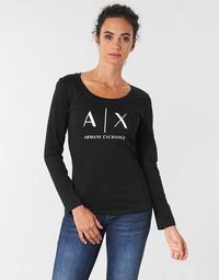 Ruhák Női Hosszú ujjú pólók Armani Exchange 8NYTDG-YJ16Z-1200 Fekete