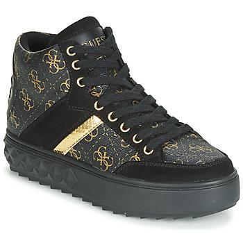 Cipők Női Magas szárú edzőcipők Guess FIXIN Fekete