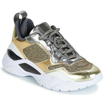 Cipők Női Rövid szárú edzőcipők Guess FURNER Ezüst / Arany