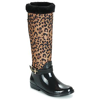 Cipők Női Gumicsizmák Guess CICELY Fekete  / Leopárd
