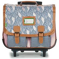 Táskák Lány Táskák / Gurulós táskák Tann's CREATION FLORE TROLLEY CARTABLE 41 CM Rózsaszín