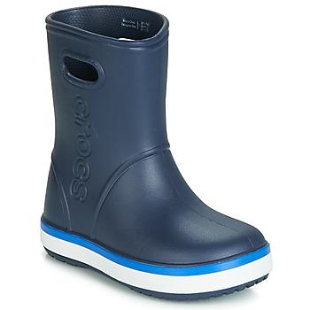 Cipők Gyerek Gumicsizmák Crocs CROCBAND RAIN BOOT K Tengerész