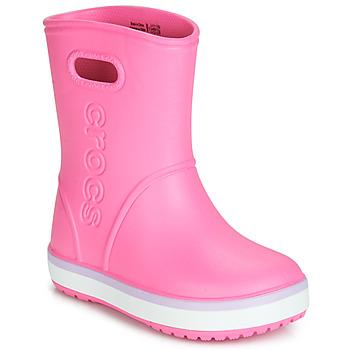 Cipők Lány Gumicsizmák Crocs CROCBAND RAIN BOOT K Rózsaszín