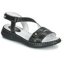 Cipők Női Papucsok André ALIX Fekete