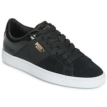 Cipők Női Rövid szárú edzőcipők Puma BASKET REMIX Fekete  / Arany