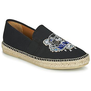 Cipők Férfi Gyékény talpú cipők Kenzo ESPADRILLE ELASTIQUE TIGER HEAD Fekete