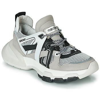 Cipők Női Rövid szárú edzőcipők Bronx SEVENTY STREET Szürke / Fehér / Fekete