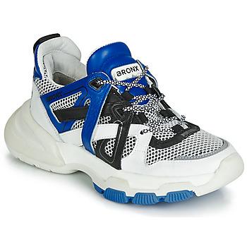 Cipők Női Rövid szárú edzőcipők Bronx SEVENTY STREET Fehér / Fekete  / Kék