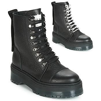Cipők Női Csizmák Bronx RIFKA SUPER CHUNKY Fekete