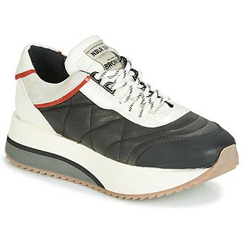 Cipők Női Rövid szárú edzőcipők Bronx NOLA ISA Fekete  / Szürke