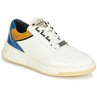 Cipők Női Rövid szárú edzőcipők Bronx OLD COSMO Fehér / Okker-cserszínű / Kék
