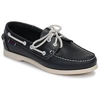 Cipők Női Vitorlás cipők Sebago DOCKSIDES PORTLAND W Kék