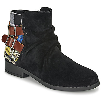 Cipők Női Csizmák Desigual OTTAWA PATCH Fekete
