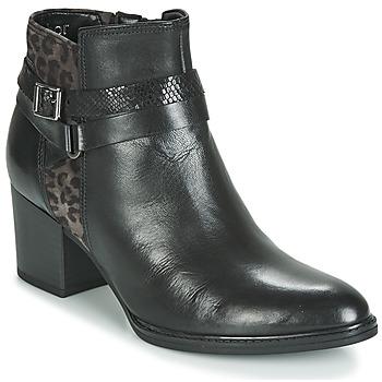 Cipők Női Bokacsizmák Gabor 3289367 Fekete  / Leopárd