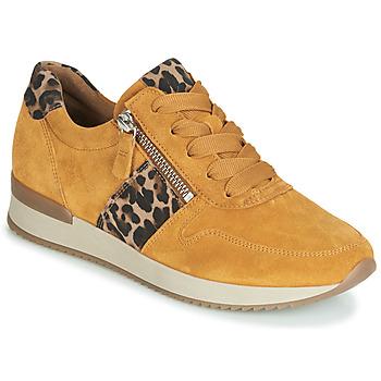 Cipők Női Rövid szárú edzőcipők Gabor 3342010 Mustár sárga