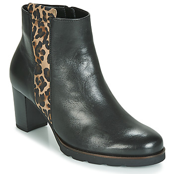 Cipők Női Bokacsizmák Gabor 3554122 Fekete  / Leopárd