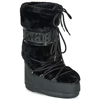 Cipők Női Hótaposók Moon Boot MOON BOOT CLASSIC FAUX FUR Fekete