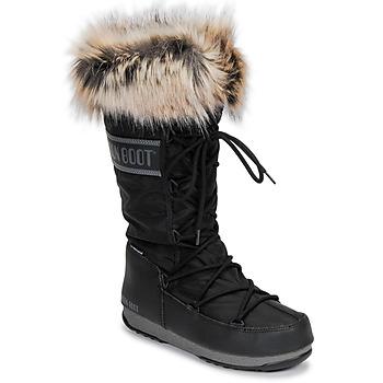 Cipők Női Hótaposók Moon Boot MOON BOOT MONACO WP 2 Fekete