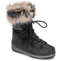 Cipők Női Hótaposók Moon Boot MOON BOOT MONACO LOW WP 2 Fekete