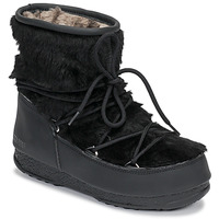 Cipők Női Hótaposók Moon Boot MOON BOOT MONACO LOW FUR WP Fekete