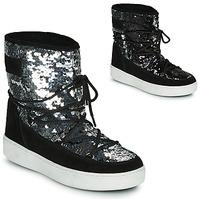 Cipők Női Hótaposók Moon Boot MOON BOOT PULSE MID DISCO Fekete  / Fényes