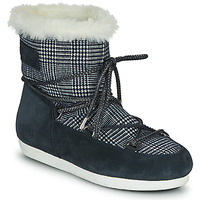 Cipők Női Hótaposók Moon Boot MOON BOOT FAR SIDE LOW FUR TARTAN Tengerész
