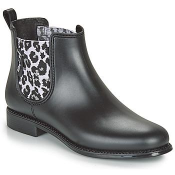 Cipők Női Gumicsizmák Be Only DAKAR Fekete  / Leopárd