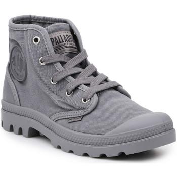Cipők Férfi Magas szárú edzőcipők Palladium Buty lifestylowe  US Pampa Hi Titanium 92352-011-M szary