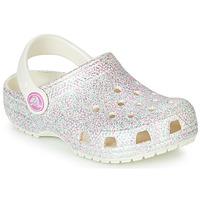 Cipők Lány Klumpák Crocs CLASSIC GLITTER CLOG K Fehér