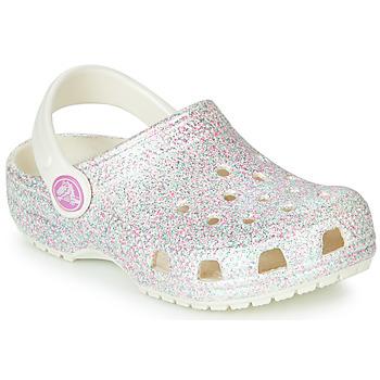 Cipők Gyerek Klumpák Crocs CLASSIC GLITTER CLOG K Fehér