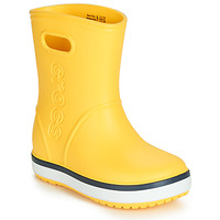 Cipők Gyerek Gumicsizmák Crocs CROCBAND RAIN BOOT K Citromsárga / Tengerész
