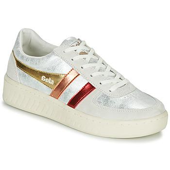 Cipők Női Rövid szárú edzőcipők Gola GRANDSLAM SHIMMER FLARE Bézs / Ezüst