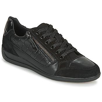 Cipők Női Rövid szárú edzőcipők Geox D MYRIA A Fekete