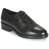 Cipők Női Oxford cipők Geox D BETTANIE Fekete