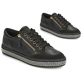 Cipők Női Rövid szárú edzőcipők Geox D LEELU' Fekete