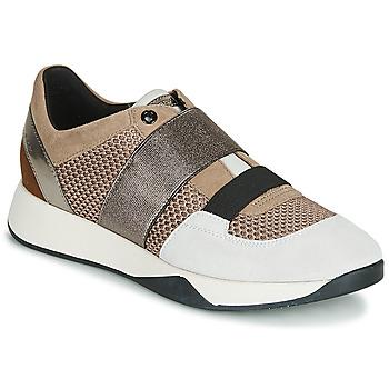 Cipők Női Rövid szárú edzőcipők Geox D SUZZIE Tópszínű / Ezüst