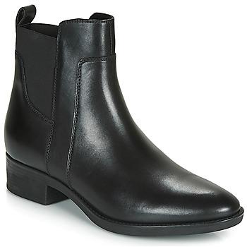 Cipők Női Bokacsizmák Geox FELICITY Fekete