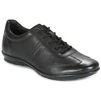 Cipők Férfi Oxford cipők Geox UOMO SYMBOL Fekete