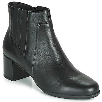 Cipők Női Bokacsizmák Geox D NEW ANNYA MID Fekete
