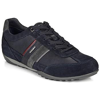 Cipők Férfi Rövid szárú edzőcipők Geox U WELLS Tengerész