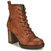 Cipők Női Bokacsizmák Mustang 1336502 Konyak