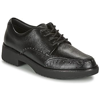 Cipők Női Oxford cipők FitFlop KEELY MICROSTUD BROGUES Fekete