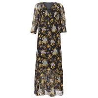 Ruhák Női Hosszú ruhák Ikks BP30195-02 Fekete  / Sokszínű